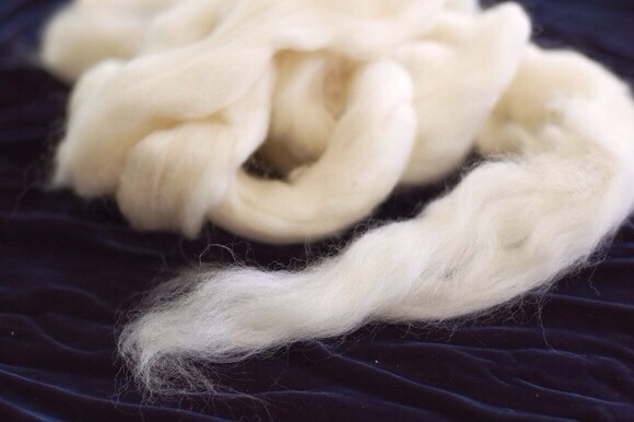 Obtain wool roving from a craft store, yarn store, or online retailer (Amazon, Etsy, etc.)