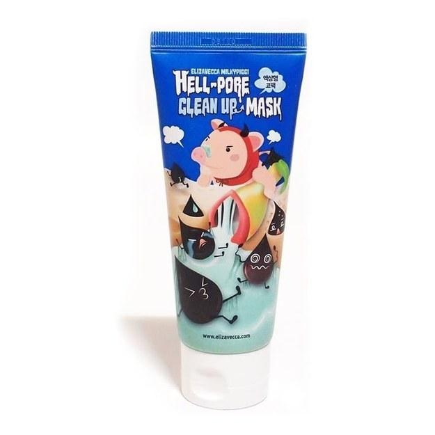 Elizavecca Milkypiggi Hell-Pore Clean Up is a peel-off mask that helps clean pores by getting rid of whiteheads, blackheads, and dead skin cells.