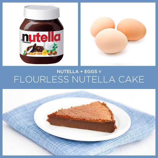 1. Nutella + Eggs = Flourless Nutella Cake