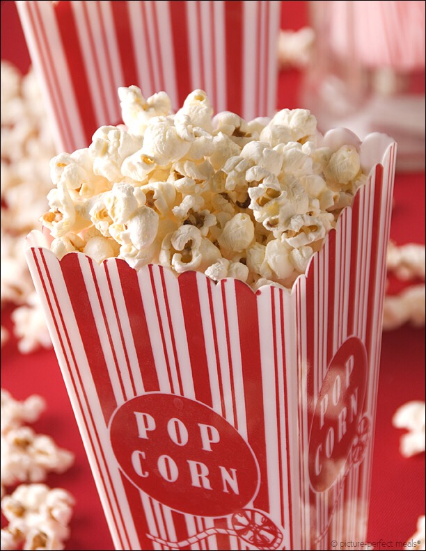 Pour butter over popcorn, add a bit of salt if desired and enjoy :)