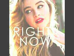 Sabrina Carpenter Right Now is the first song. It's so amazing and awesome i love it.