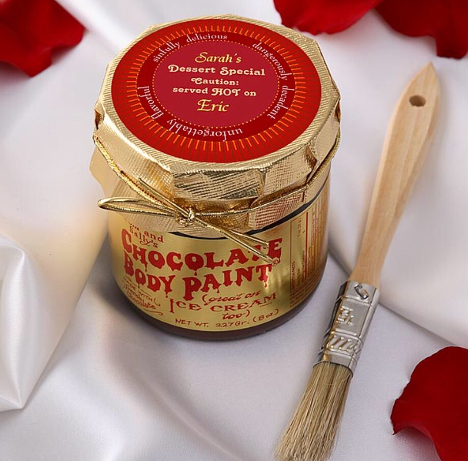 2. Body paint Chocolate is known for being rich in anti-oxidants which actually equates to 'very good for the skin.' So of course it's only natural that we slather ourselves with this decadent spread. But more than just giving our skin some extra nutrients, chocolate body paint is known to kick out