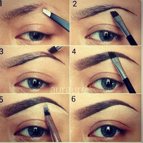 how to draw your eyebrows on properly