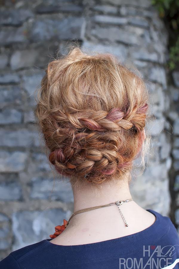 A basic braid is one of the most versatile styles. This braided upstyle is made up of four braids (plaits) twisted and pinned in place.
