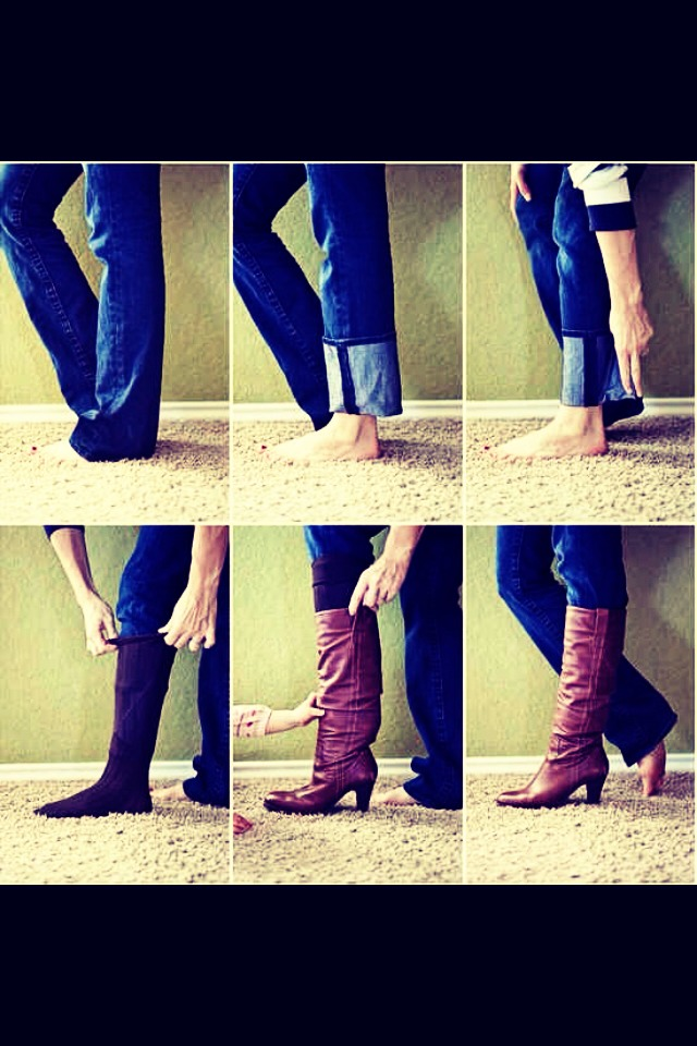 Easy way to tuck your pants better into your boot :)