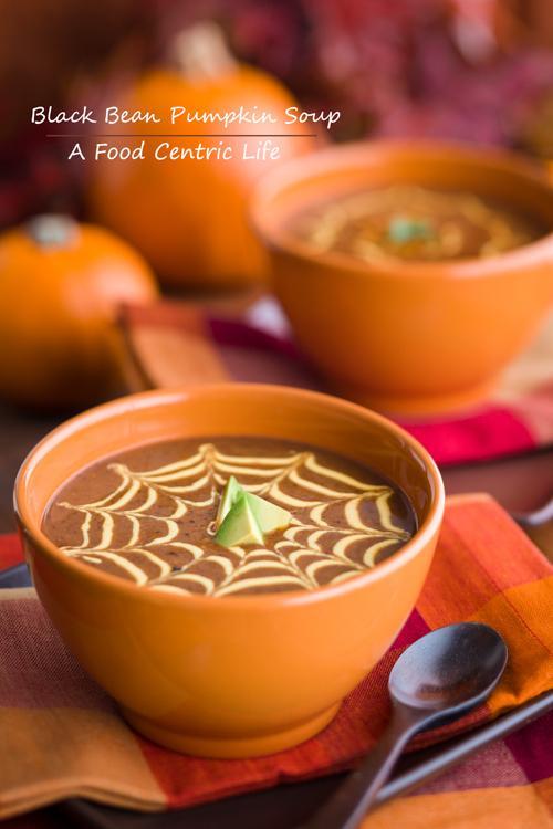 Black Bean and Pumpkin Soup  http://afoodcentriclife.com/black-bean-and-pumpkin-soup/