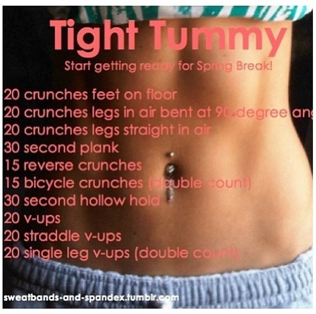 Rock your spring break body by doing these workouts!