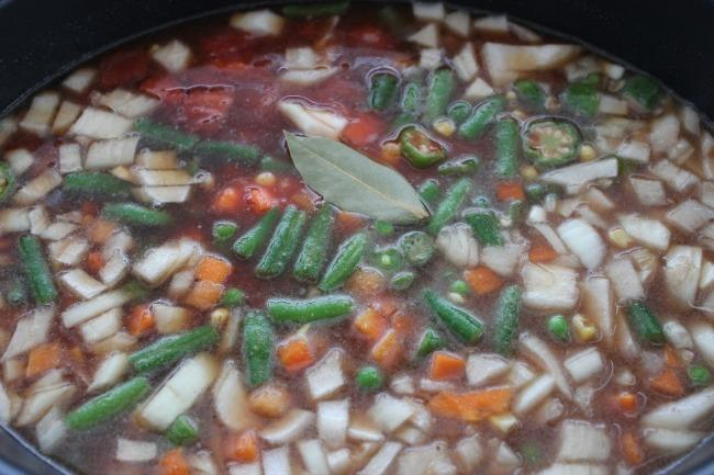 Add all ingredients (except salt and pepper) to slow cooker and cook on low for 8 hours.