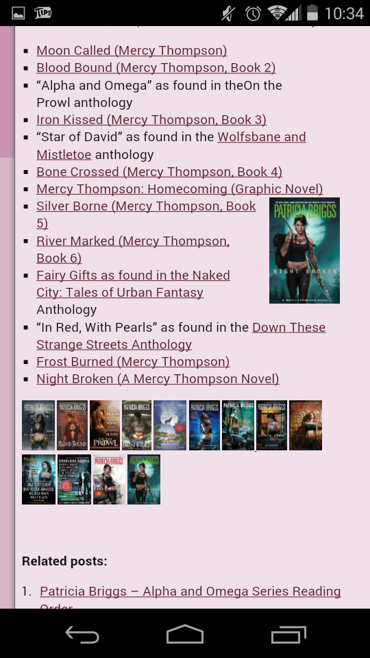 Mercy Thompson series