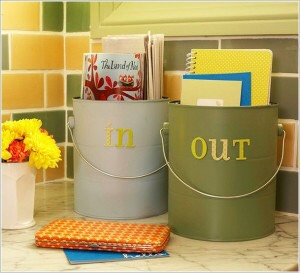 Easy way to both organize your mail and add personality to your living space.