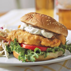 13. Fish Sandwich 600 calories  30 g fat  11 g saturated    Eat this instead! Chicken sandwich 300 calories  13 g fat  4 g saturated