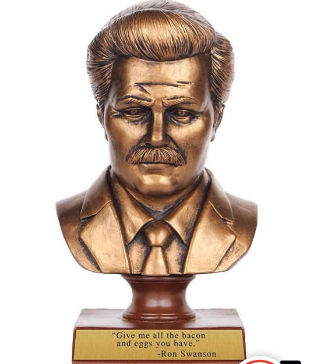 3.A bust of Ron Swanson