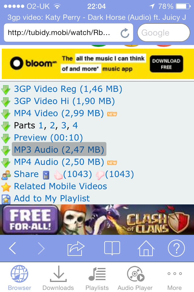 Free video player for 2550 4