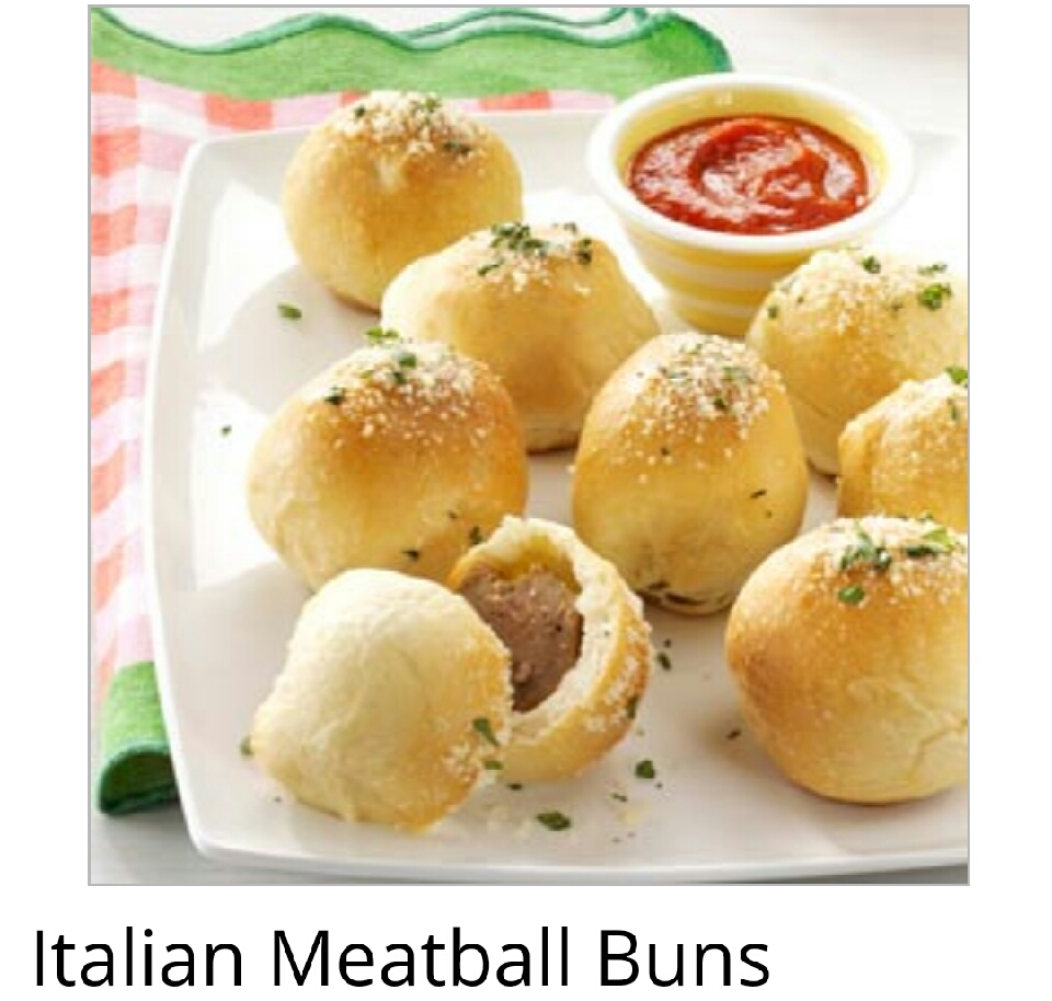 Follow this recipe for Italian meatball buns!