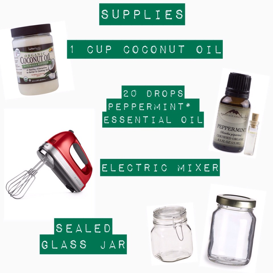 *Feel free to replace with another essential oil!