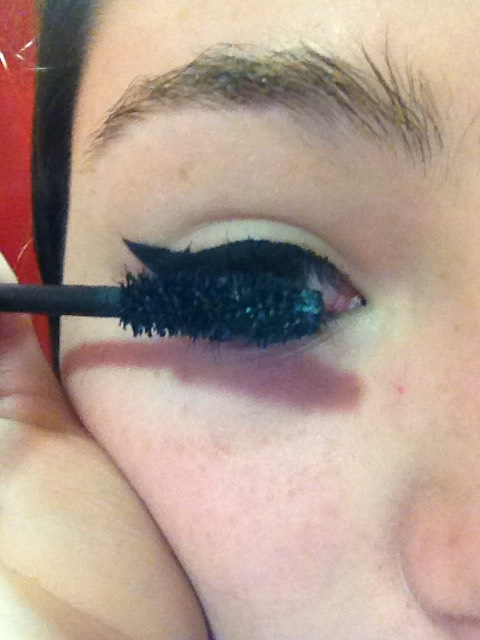 Then add mascara if needed or wanted.