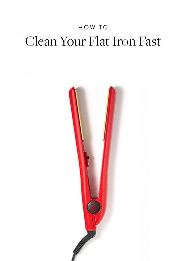 18. Don't forget you have to clean your flat iron! Here's how: