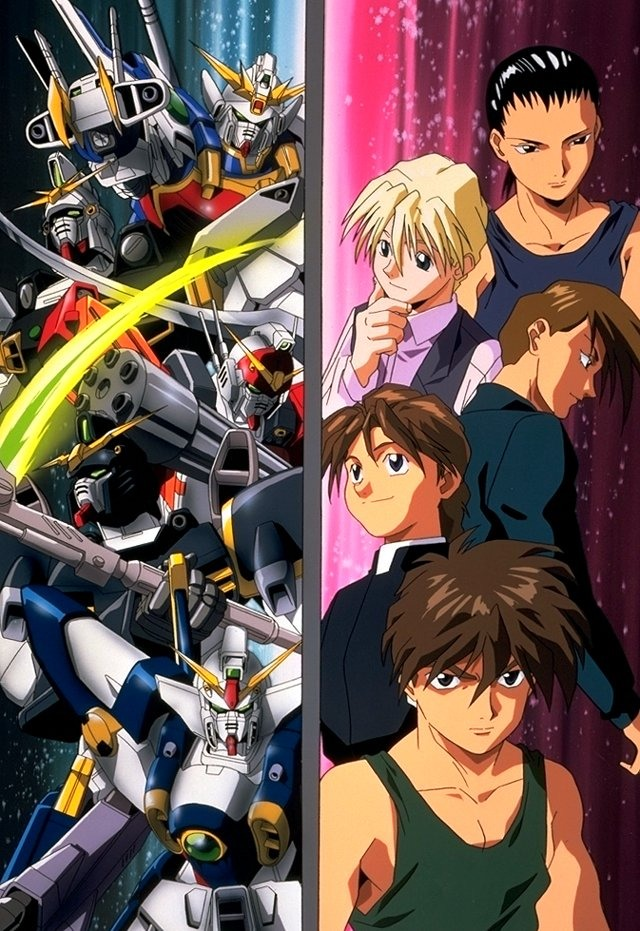 Gundam wing: human space colonies and earth go to war. More giant robots and touching situations.