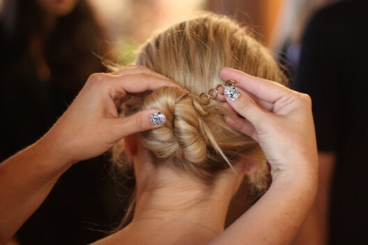 Replace your bobby pins with spin pins for a quicker and easier bun that lasts all day.