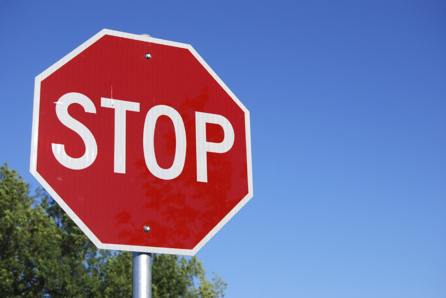When ever u see a stop sign  FLEX YOUR ABBS