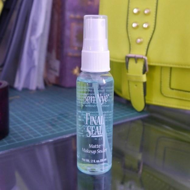 13. If you don't want your makeup to move an inch, spend $11 on some Ben Nye Final Seal.