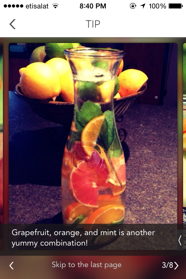 Grape fruit,orange and mint can be refreshing and helps u lose wieght in no time!