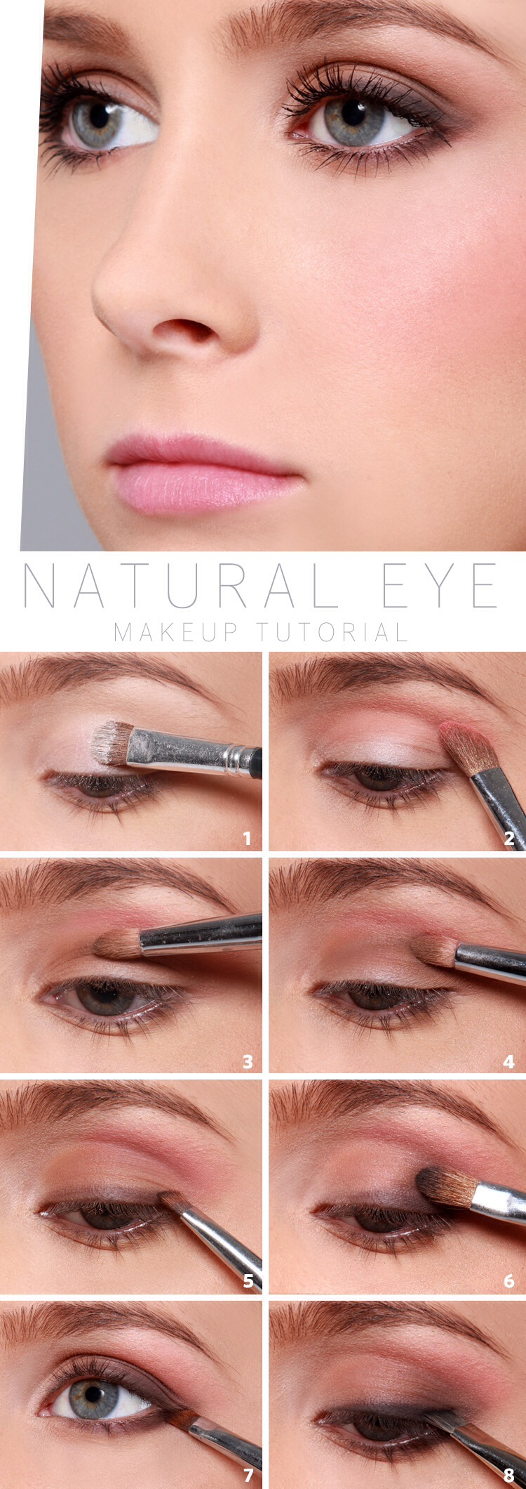 Natural, everyday look. Really subtle and romantic.