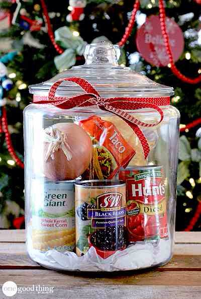 """Taco Soup In A Jar  Christmas """"treats"""" don't always have to be SWEET. Give the ultimate gift…..not having to figure out what's for dinner! In my opinion that is priceless."""
