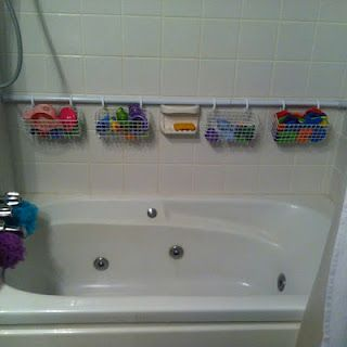 Cleans up the inside and around the bathtub. Makes it easier for adults to use the same tub as little kids.