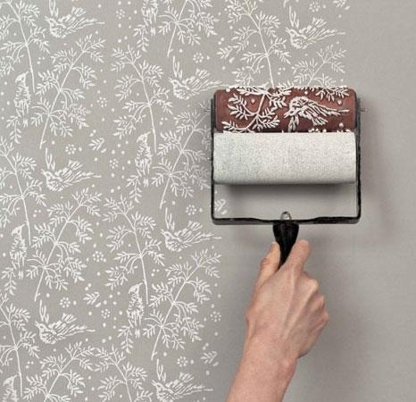 Wallpapered look