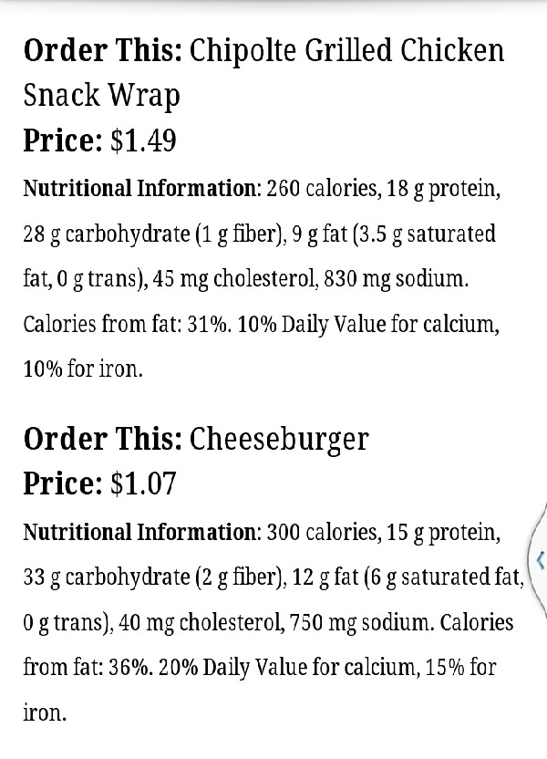 15 heathy things to order from fast food restaurants by