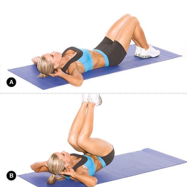 10 reverse crunches ~entire abdominal~