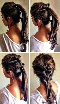 An easy but cute hairstyle , seriously looks like it has took you ages aswell. This will impress your friends