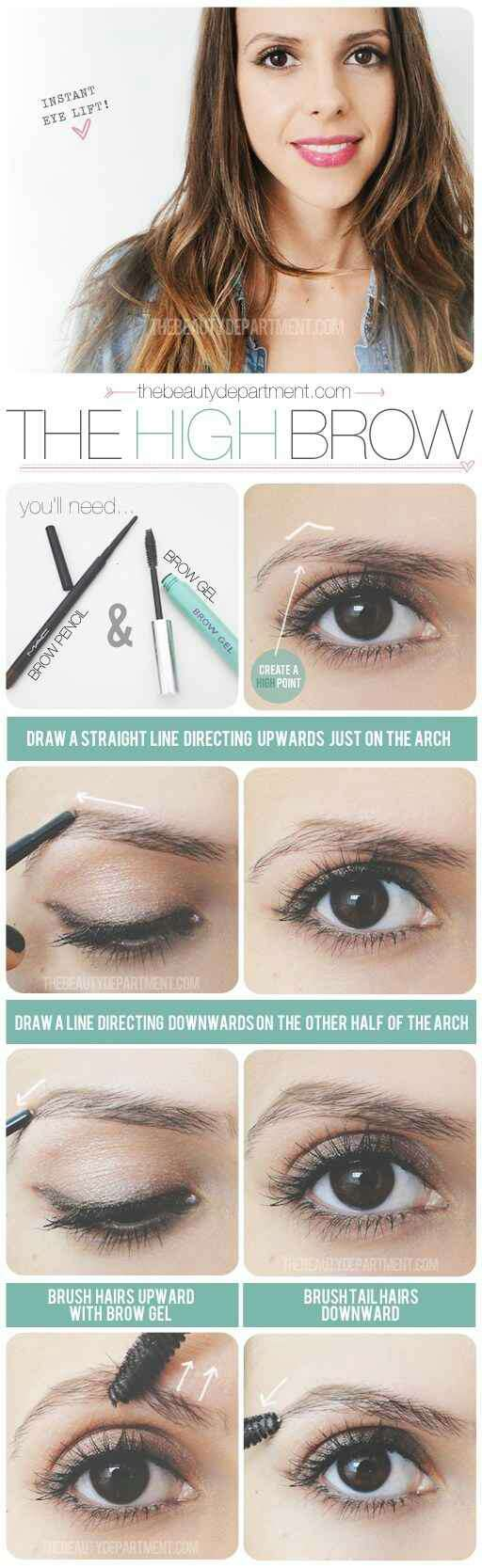 15. Get a refined but natural look with brow gel. Add more shape to your brows without having to fill them in. This is also a great trick for upgrading brows while you're on a warm weather vacation.