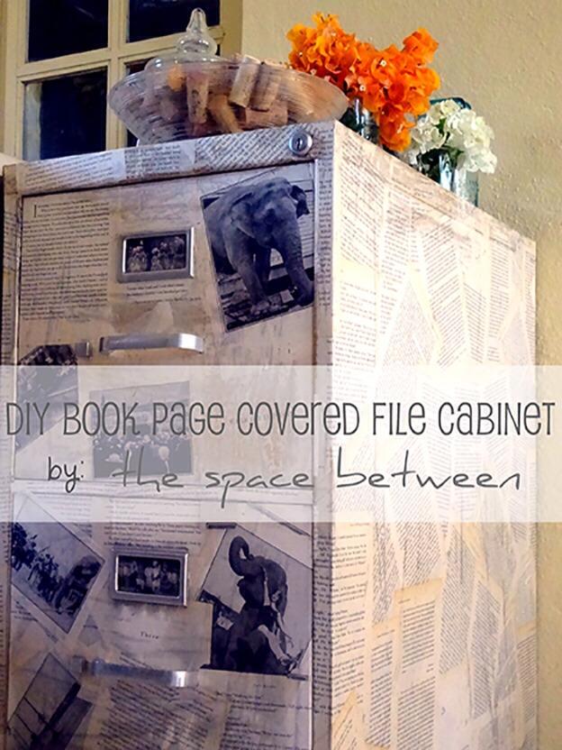 Book Page File Cabinet