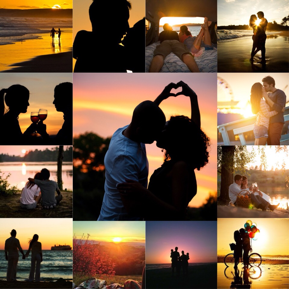 1. under the sunset. you'll be falling for each other just before the sun will😉