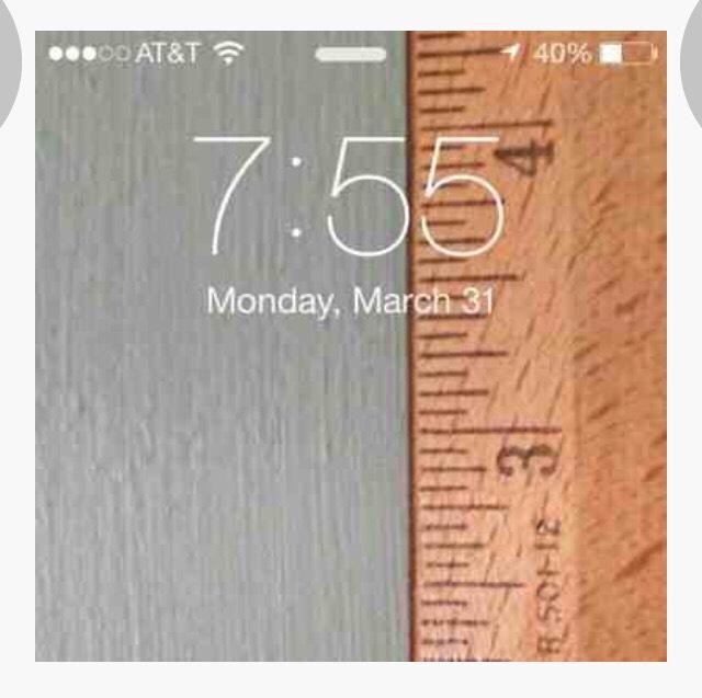 Ruler + iPhone = iPhone ruler