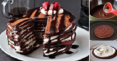 http://www.goodshomedesign.com/chocolate-pancake-cake-recipe/