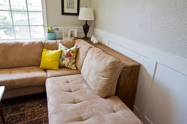 Pull furniture away from the wall to create the illusion of spaciousness
