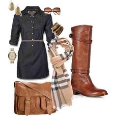 A cute Jean dress is perfect for Fall