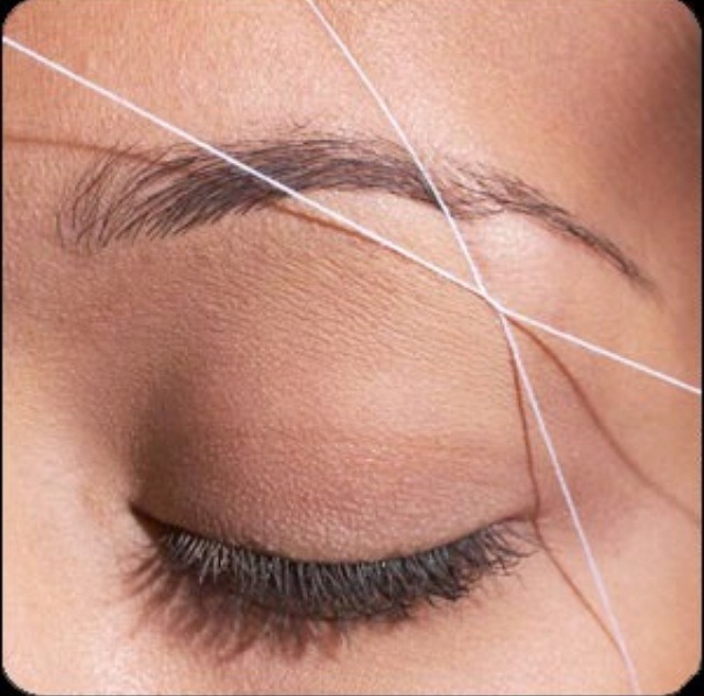 DIY eyebrow threading!