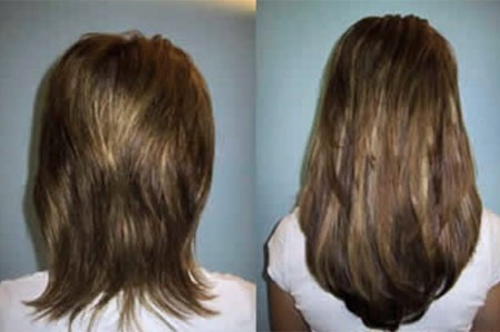 This actually works! My hair grew 5 1/2 inches in just ONE DAY!!!