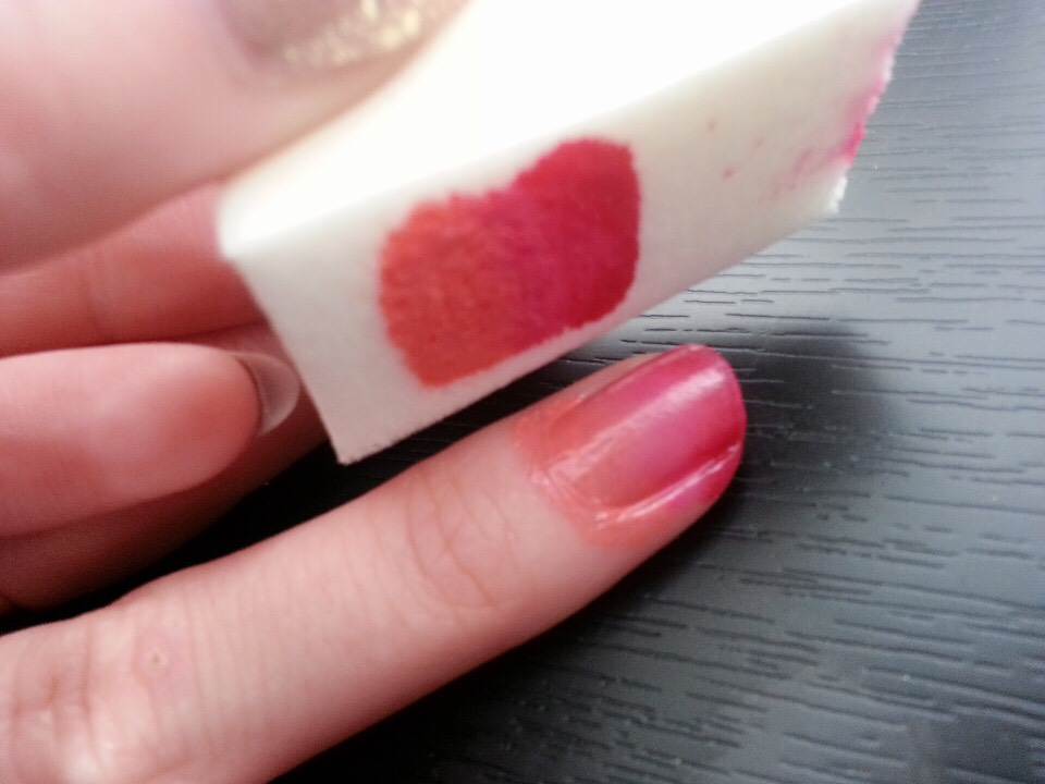 Next dab the sponge on your nails make sure they over lap in the middle to create the ombré look !
