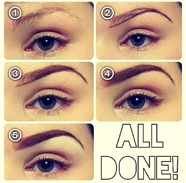 Step by step how to use eyebrow powder