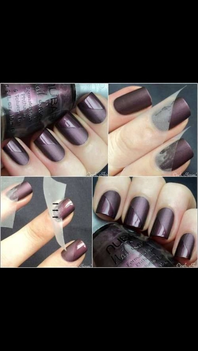 For do this, you put a Scotch tape on one part and put a shinny top coat ! Be sure that is ready before put your avotch tape or it will go away