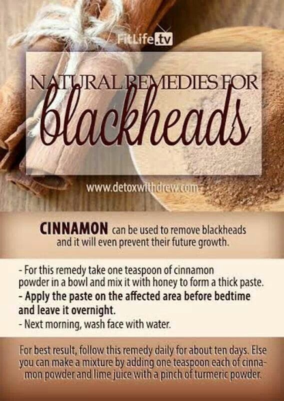 13. Cinnamon is also a great natural remedy. Make it into a mask: