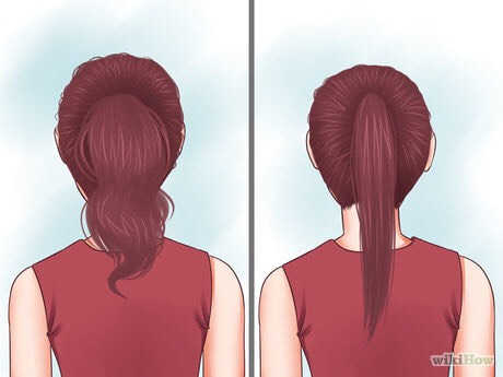 Choose between a messy ponytail or a sleek ponytail. If you desire a neat and sleek ponytail, brush your hair and consider straightening it before proceeding. If you want a messy ponytail, which is just as cute, leave your hair in its natural state.