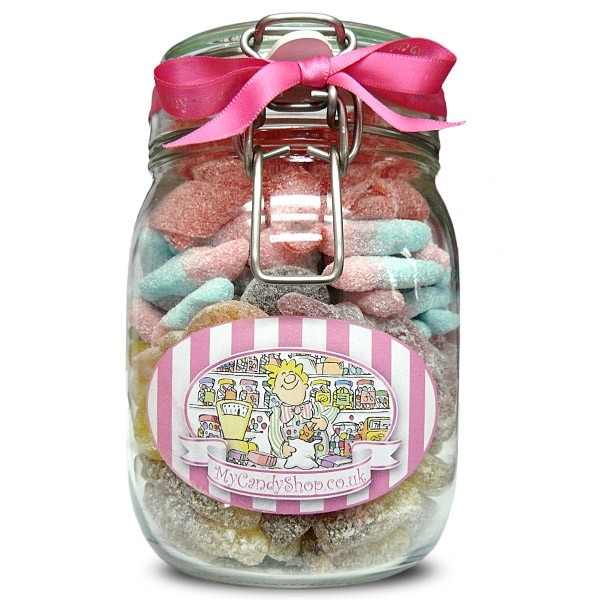 Or just a jar of his favour sweets, to show you know what he likes :)