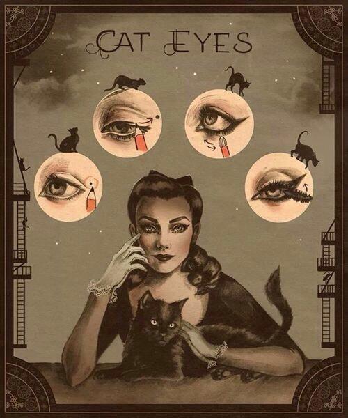 Funny amazing makeup tips cateye!!!💞👍