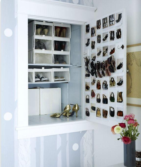 hang a chain betewen two clips to organize your sunglases